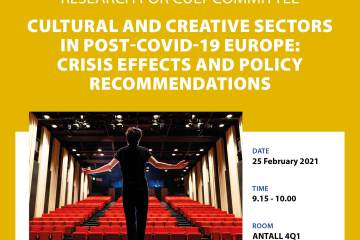 Poster: Cultural and creative sectors in COVID-19 Europe: Crisis effects and policy recommendations