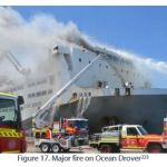 Figure 17. Major fire on Ocean Drover