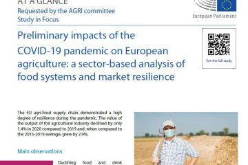 At a glance: Preliminary impacts of the COVID-19 pandemic on European agriculture: a sector-based analysis of food systems and market resilience