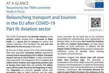 Relaunching transport and tourism in the EU after COVID-19 – Part III Aviation sector