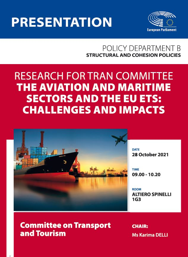 Poster: The aviation and maritime sectors and the EU ETS: challenges and impacts