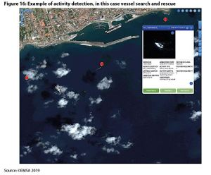 Figure 16: Example of activity detection, in this case vessel search and rescue