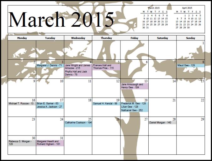 Sample Calendar A
