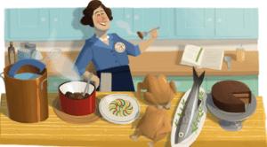 Google Doodle for Julia Child