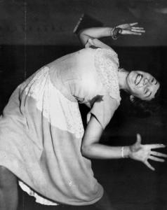 Lee Celledoni dancing the Jitterbug, 1947