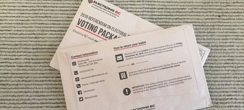 Dead Heat in British Columbia's Electoral Reform Referendum