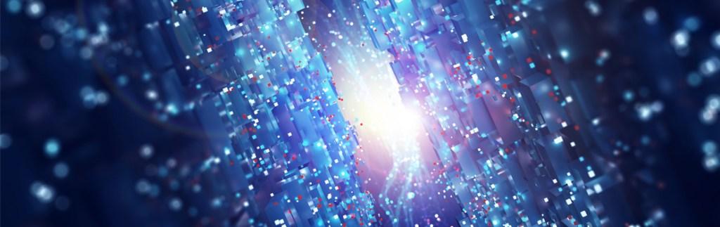 graphic representing a quantum network