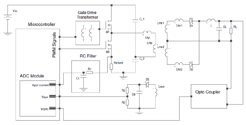 Schematic Diagram Of Half Bridge Converter Circuit
