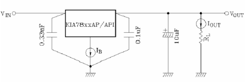 Connection Diagram Of 7805 Voltage Regulator Used In The