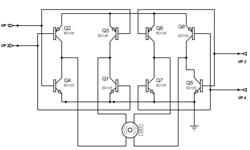 Figure 7: H-bridge Stepper Motor Driver Circuit