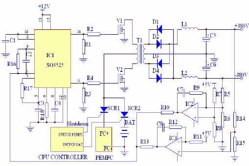 Schematic Circuit Model Of DC/DC Converter
