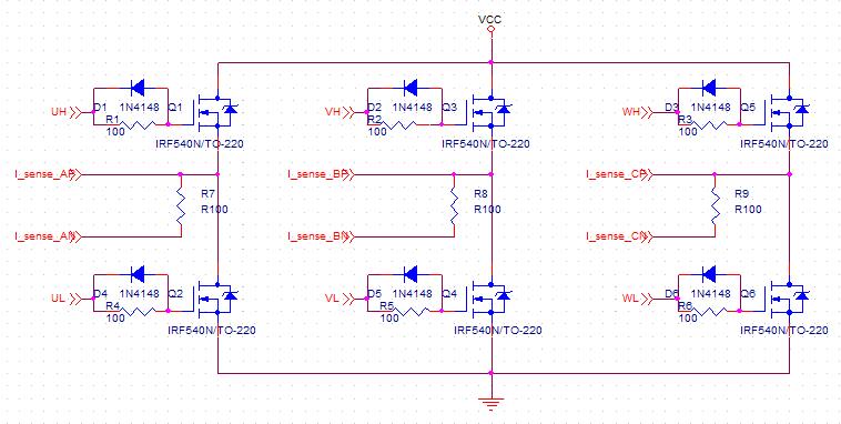 SVPWM Control H-bridge Circuit
