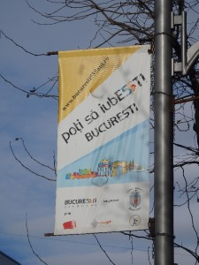 """You can like Bucharest"", advertisement for the events organised around the 555th anniversary of the city of Bucharest. January 2015."