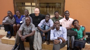 Ross and the Research Team, Uganda.  Photo Dr Ross White.