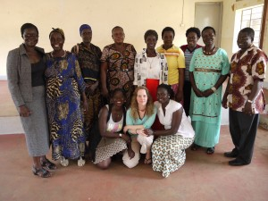 Katja with participants in Uganda.  Photo Dr Ross White.