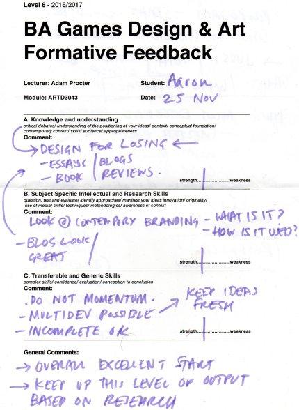 Formative Feedback 1