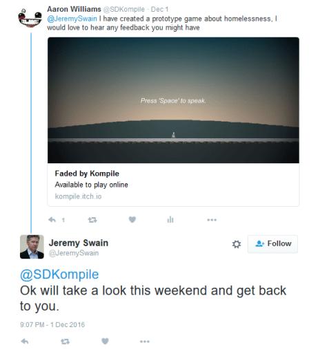 Twitter Jeremy Swain