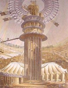 Colosseum, veduta interna con il panorama di Londra, prima del suo completamento, Guidhall Library, Corporation of London.