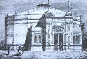 Milano, Rotonda dei Panorami al Foro Bonaparte, di B. Bettelli e L. Broggi, 1881.