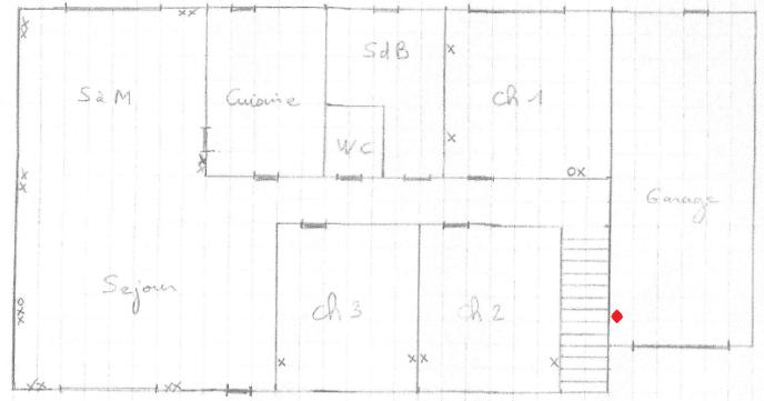 Plan Maison RDC  Avec Prises Ethernet et coffret de communication