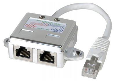 Doubleur RJ45 Ethernet + Telephone