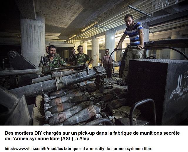 mortiers fabriqués par l'ASL