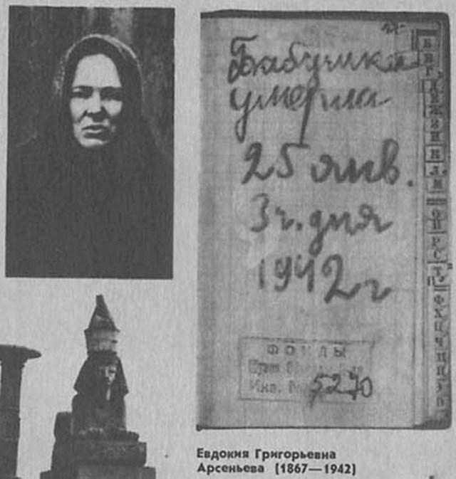La grand-mère de Tanya, Evdokia Arsenieva