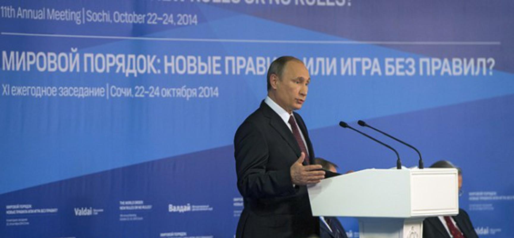 Le nouvel ordre mondial de Poutine