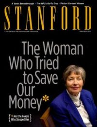 En hommage à l'action de Brooksley E. Born contre Rubin, Greenspan et Summers, le magazine de l'université de Stanford publia cette une, 10 ans après celle du Time : « la femme qui tenta de sauver notre monnaie, et les gens qui l'en empêchèrent »