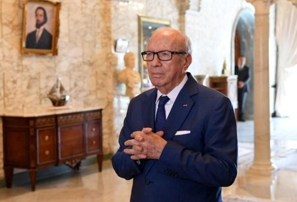 Le président tunisien Béji Caïd Essebsi plus tôt en août 2017 (AFP)