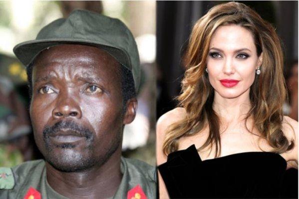 Joseph Kony et Angelina Jolie