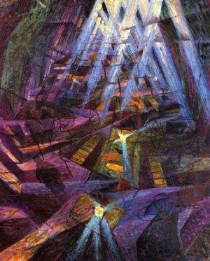 La peinture futuriste fait l'appologie du progrès, de la guerre et de l'homme nouveau