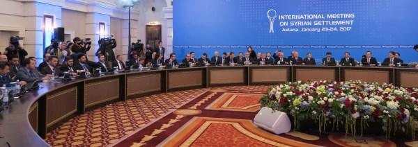 Les pourparlers de paix à Astana