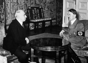 Emil Hacha rencontre avec Adolf Hitler, Berlin, 14 mars 1939