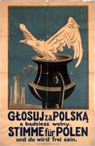 Une affiche polonaise de propagande: Votez pour la Pologne et vous serez libre ...