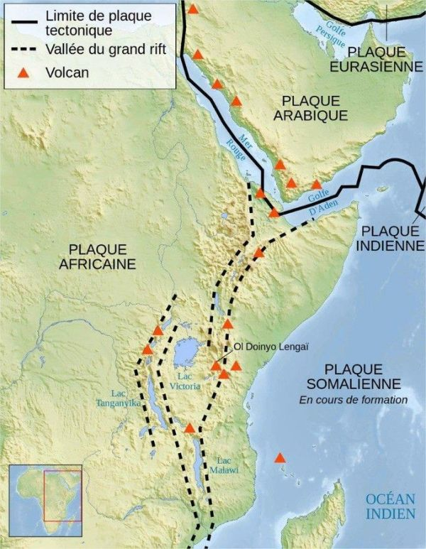 Four countries in the Horn of Africa - Somalia, half of Ethiopia, Kenya and Tanzania - are expected to separate from Africa to form a new continent in around 50 million years, geologists have predicted .  (Photo: Wikimedia Commons)