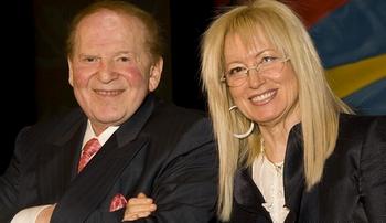 le couple de miliardaires Miriam et Sheldon Adelson