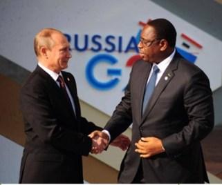 Vladimir Poutine et Macky Sall à Saint Petersbourg