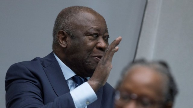 Laurent Gbagbo, devant la CPI me 15 janvier 2019.  © Peter Dejong/Pool Source: Reuters