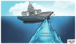 Caricatures du Global Times sur le Capitole