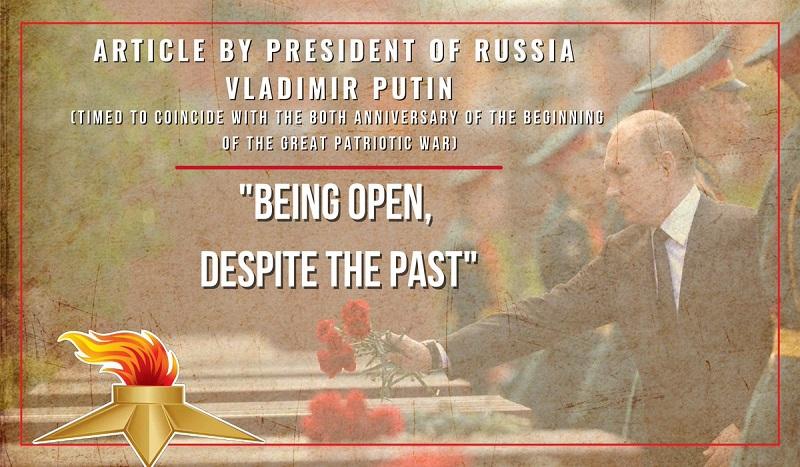 Article de Vladimir Poutine – «L'ouverture, malgré le passé»