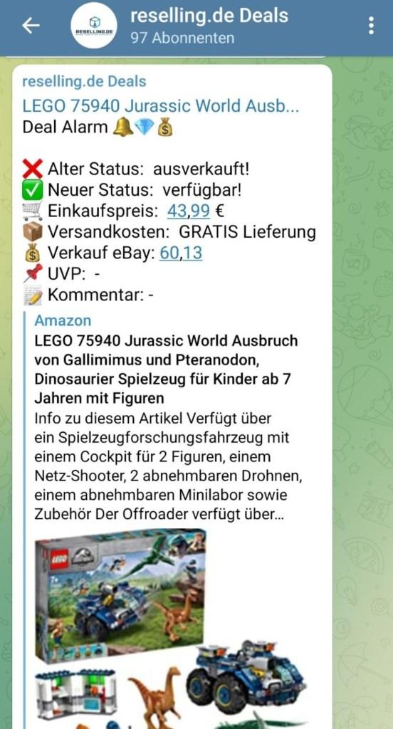 Telegram Reselling Deals reselling.de