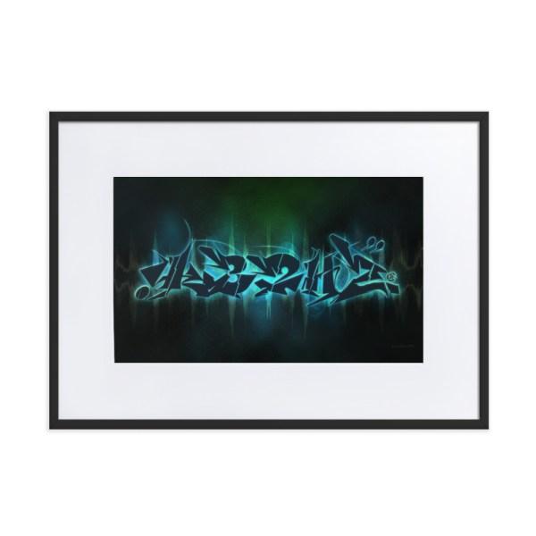 432Hz Resonate Frequency Framed Print