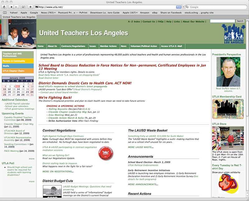 UTLA.net in 2006