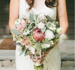 Design Idea Protea/Foliages Resendiz brothers Wedding