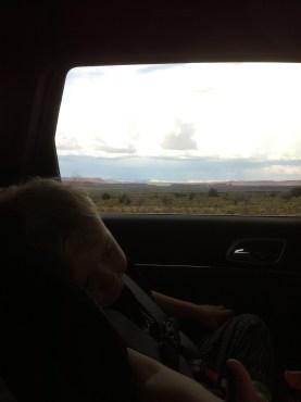 Det blev många långa timmar i bilen