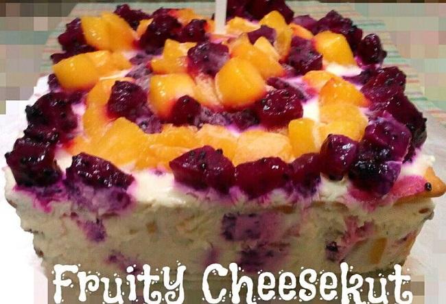 Resepi Fruity Cheesekut