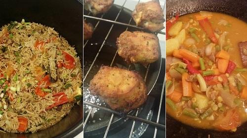 Resepi Nasi Bukhari dengan Ayam Bakar Halia dan Dalca