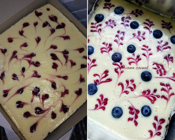 Resepi Brownies Blueberry Cheese