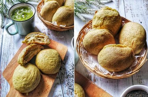 Resepi Roti Boy Perisa Green Tea